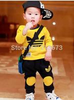 NEW 2014 KIDS Clothing Set Spring & Autumn, T-Shirt + Pants Boys Girls Clothing Sets Children Kids Clothes set Free Shipping