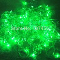 Holiday Outdoor 100pcs Green LED String Lights 10M 220V 110V Christmas Xmas Wedding Party Decorations Garland Lighting
