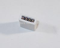 500PCS White LED Connectors rgb 4 Pin Strainght Wireless Plug RGB Led Strip Connectors