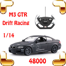Christmas Gift Rastar 48000 1/14 M3 GTR RC Remote Control Car Racing Model Drive Speed Vehicle Easy Control Toy For Kids & Boys(China (Mainland))