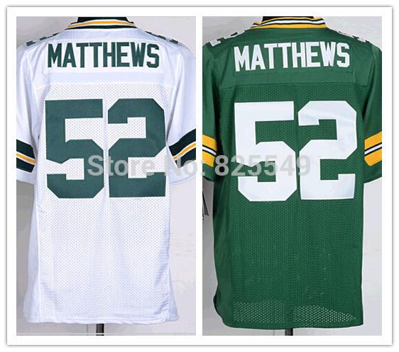 Cheap Mens 52 Clay Matthews Jersey Green Bay Elite Football Jerseys,Embroidery Logos,Size M-XXXL,From China Free Shipping(China (Mainland))