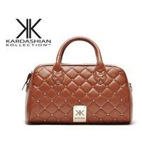 New 2014 fashion high quality handbags Kardashian kk plaid rivet shoulder bag handbag messenger bag women's handbag work bags