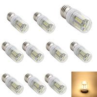 10pcs/lot High Quality E27 27 5050 SMD Warm White 2800-3200K /White LED bulb AC 220V 240V  High brightnes Led Lighting  Lamp