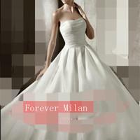 2015 wedding formal dress fashion high quality fashion vintage tube top bandage wedding dress vestido de noiva vestido