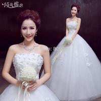 2014 sexy tube top wedding qi princess wedding dress sweet
