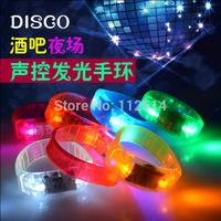 Free shipping night light LED flashing bracelete for lovers KTV/wine bar decoration