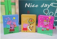 1Pcs 3Colors Peppa Pig Notebook Set For Children Gift Kids Diary Book Cartoon Notebook Growth Diary Books+Lock