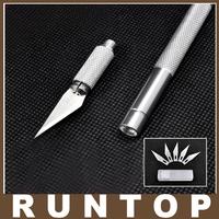 for PCB Phone Repair DIY tool Metal Handle Hobby Knife Pen Cutter+ 10pcs Blade