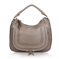 Top quality original brand marcie saddle real calf leather gray women handbag shoulder bag fashion gift free shipping wholesale