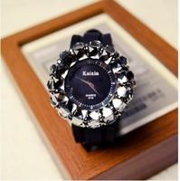 Free shipping fashion diamond quartz watch big dial watch female personality