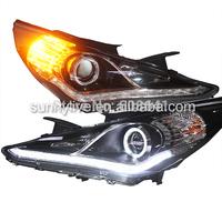 Angel Eyes LED head lamp for Hyundai Sonata  2009-11 ZM
