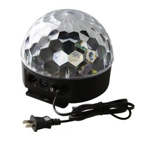 6 Channel DMX512 Control Digital LED RGB Crystal Magic Ball Effect Light DMX Disco DJ Stage Lighting