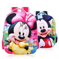 Lightening nylon cartoon 3D kids backpack children mochila kindergarten/primary school bags for student girls boys 2015 new
