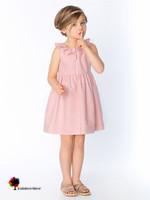 New Quality Summer Girls Dress Sleeveless Tribute Silk Cotton Dresses Solid Ruffled Collar Princess Top Grade Children Clothing