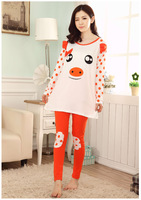Fall and winter long-sleeved tracksuit Ms. quality cotton pajamas cute cartoon pig round neck piece pajama models fall