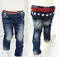 Small children wear jeans factory boy cotton trousers cotton washing BOYS PANTS
