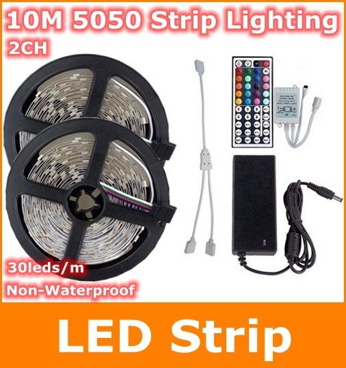 Светодиодная лента Bosan 10M rgb SMD 5050 DC 12V /RGB SMD5050-30  светодиодная лента 10 50 50 12v 30 smd 5050 v