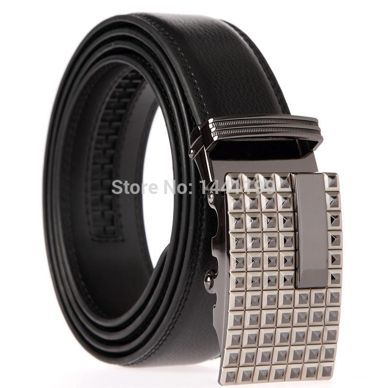 Men's newest belts, automatic belt buckle leather belt buckle belt leather floor automatic free shipping Hot 2 COLOR(China (Mainland))