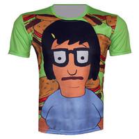Top Fashion new 2015 summer Harajuku digital print men/women funny 3D t-shirt cartoon  Lovers T shirts top plus size xs-6xl