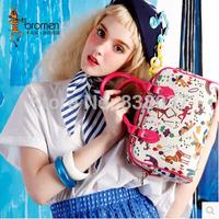 2014 new printing Boston pillow bag handbag Crossbody Bag Lady bucket cartoon bags