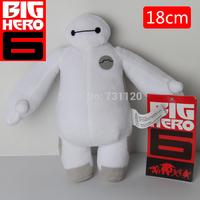 Hot Sale 2015 New High Quality 18 CM Big Hero 6  Stuffed Plush Robot Doll Soft Baby Classic Toys Free Shipping