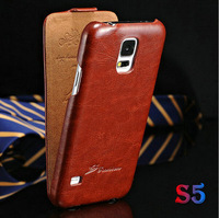Vintage Cover for Galaxy S5 PU Leather Flip Case For Samsung Galaxy S5 i9600 Stylish Phone Bag Muti Colors