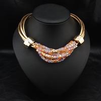 Wholesale Fashion Jewelry Perfume Women Bijoux Jewelry Costume Crystal Necklace Choker Pendant Statement Necklace
