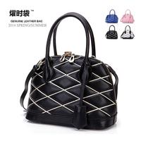 2015 Fashion Famous Designers Brands Women Handbag Women Genuine Leather shell plaid Tote Travel Cosmetic shoulder Bags