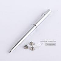 5 Pcs/Lot New Arrival 2014 Dengan Ultraviolet Silver Security Magic Invisible Ink Marker UV Spy Pen