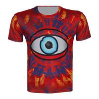 Top Fashion new 2015 harajuku punk style t shirt women/men unisex clothes eye printed t-shirt casual brand tops size xs-6xl tees