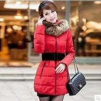 Free Shipping 2014 winter warm coats women wool slim double breasted wool coat winter jacket women fur women's coat jackets