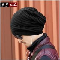 Male winter hat knitted hat pocket toe cap hat ear cap covering lovers cap outdoor wigs dual cap