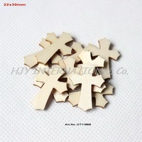 (150pcs/lot) Easter Scrapbooking Natural Wooden Cross Wholesale  Supplies 30MM-CT1188B