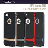 Original Rock Brand Royce Series PC +TPU Ultra Thin Anti-Knock Shockproof Case For iPhone 5 5G 5S , MOQ:1PCS Free shipping