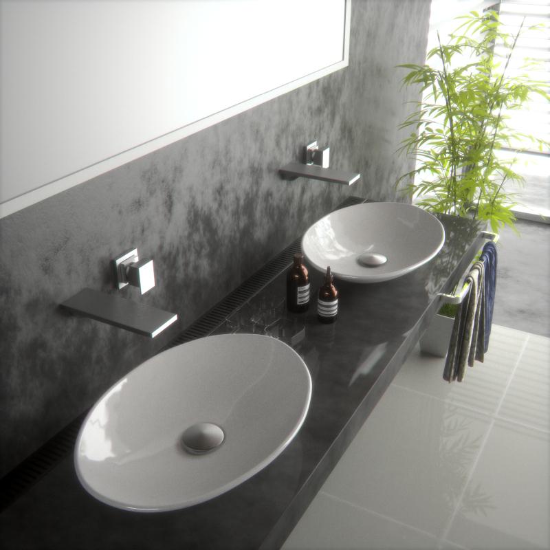 Lavabos Ovalados Para Baño:Comprar Nuevo Super Slim cuenco ovalado baño sobre encimera lavabo de
