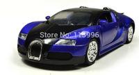 1:36 Bugatti Veyron Diecast Alloy Car Model Pull Back Sound&Flashing Cars Simulation Kids Toys