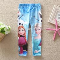 New  Arrival Kids Clothes Comfortable Leggings Grils Leggings Frozen  Cotton Free Shipping