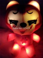 2015 Night Flash LED Luminous Plush Stuffed Plush Glow Peluches Toys Colorful luminous A Beaver toys Dazzling Lights
