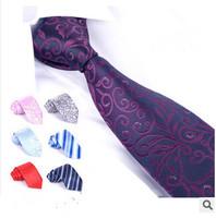 Male Neckties Fashion Formal Business Neckties Solid Striped Neck Ties 145cm*8cm Banquet Wedding Tie Necktie Gravata For Men