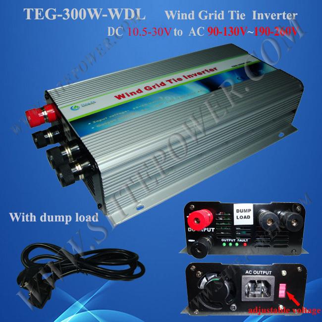 300W inverter grid tie for wind turbine, 12V 24V wind turbine generator inverter 300W, best micro on grid tie invertor(China (Mainland))