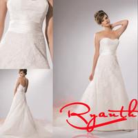 RBW171 Sexy A-Line Sweetheart Appliques Court Train Wedding Dresses 2015 New Arrival Wedding Gowns Dress Bride Vestidos De Noiva