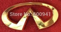 1PCS Golden Car Motor Auto ABS-plastic Chrome 3D Badge Emblem Sticker  Hood Grille Bumper Trunk  120mm Infiniti