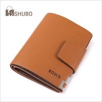 SHUBO 2015 Fashion Business Vintage Hasp Wallets Men's Genuine Leather Wallet Men Purses Free Shipping SW031