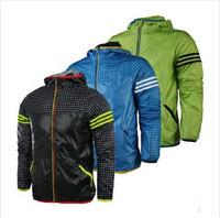 2015 New Outdoors Man Spring Autumn Jacket Men Sportswear Waterproof Men Windbreaker Zipper Sport Coats