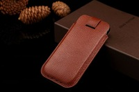 1PC! luxury Vertical Insert Holster genuine cow leather pouch bag case cover For iPhone 6 plus 4.7 5.5