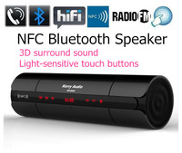 KR-8800 Bluetooth Speaker NFC MIC FM Radio Bass Mini Portable Wireless Speaker Support TF card AUX Sound Box Hands-free 20pcs