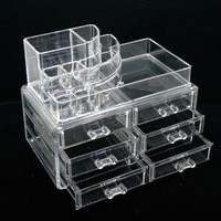 New Arrive SF-1158 Clear Acrylic Cosmetic Box Makeup Organizer case Dawers Jewelry Storage