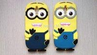 new arrival xiaomi mi4 m4 3D cute cartoon Soft Rubber silicon Despicable Me Yellow Minion case back cover for xiaomi M4 skin