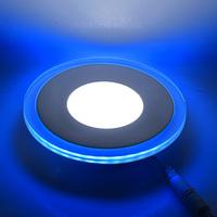 7W Round LED Panel Light White(5735) & Blue(3528) SMD Ceiling Lamp 85~265V LED0284