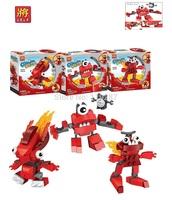 3sets/lot,Original LELE Fit the Elf building blocks,Mixels Elf Three in One enlighten Toys,Unisex robots Playmobil  plasic toys